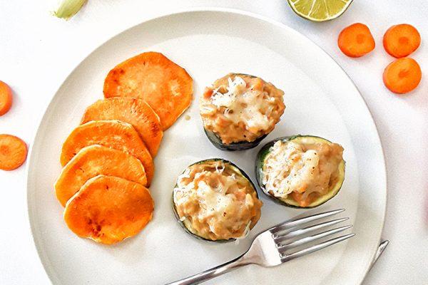 calabacín rellenos de hummus 2