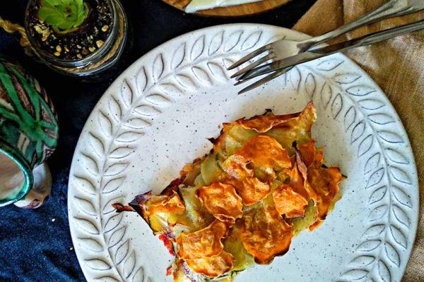 pastel vegetal fácil y rápido 2